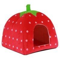 Strawberry Dog Cat Bed Cushion Home Kennel Puppy Pet Nest Animal Nest Pet C P9J7