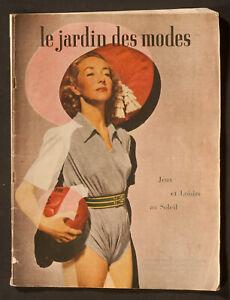 'LE JARDIN DES MODES' FRENCH VINTAGE MAGAZINE SUNSHINE ISSUE JULY 1947