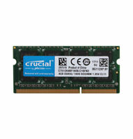 Crucial 4GB Laptop Memory PC3L 12800S 2RX8 DDR3L 1600MHz RAM SO-DIMM 204PIN @1H