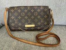 Authentic Louis Vuitton Monogram Favorite MM Crossbody Clutch Handbag Bag