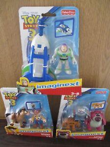 Imaginext Toy Story 3 Buzz Lightyear Spaceship Woody Bullseye Lotso Chunk Sparks