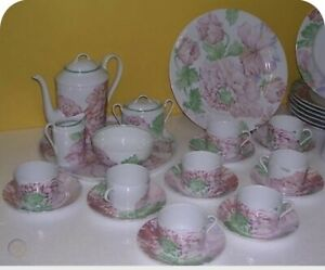 """Limoges """"Fleurs""""china- Dinnerware Set service for 12 & extras, Never Used."""