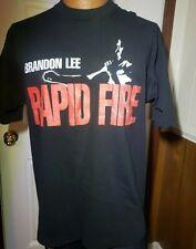 Rare VTG 90s 1992 Brandon Lee Rapid Fire Movie Promo T-Shirt Bruce Karate Crow