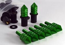 Spike Windscreen Bolt Kit- Green Aluminum Bolts, Screws, Washers, Well Nuts.