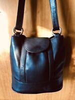 Futura-Black Leather Shoulder Bag