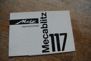 Metz Macablitz 117 Flash instructions.