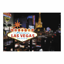 LAS VEGAS Sign Strip BACKDROP BANNER photo prop WALL MURAL casino night party