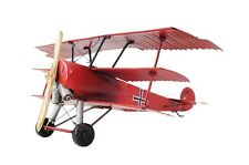"1917 Red Baron Fokker Triplane Metal Desk Model 12.8"" L X 11.5"" W X 5.5"" H"