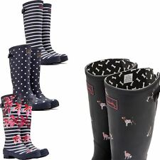 Joules WellyPrint Ladies Horse Riding Waterproof Stable Field Tall Wellingtons