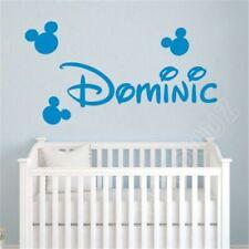 Cartoon Mickey Mouse Custom Name Kids Nursery Room Decal Home Decor Wall Sticker