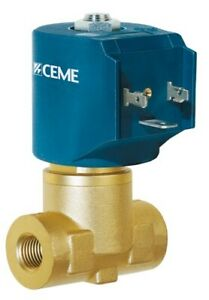 """Solenoid valve CEME 8324 Normally Closed 1/2"""" BSP water air steam light oils"""