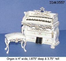 ORGAN & STOOL DOLLHOUSE MINIATURES Heirloom Collection 1:12 Scale