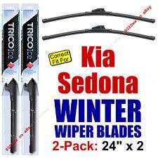 WINTER Wiper Blades 2-Pack Premium - fit 2002-2005 Kia Sedona - 35240x2