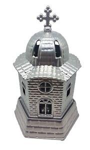 Orthodox Church Design Aluminum Vigil Candle 16 x 9.5cm