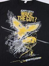 "US ARMY GoArmy.com ""Can You Make The Cut?"" Black T Shirt Size XL (NWOT)"