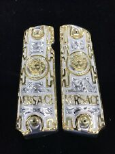 1911 Versace Silver N Gold Plated German Silver Grips 45/38 super Colt Medusa