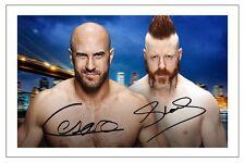 SHEAMUS & CESARO WWE WRESTLING SIGNED PHOTO PRINT AUTOGRAPH