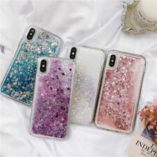Glitter Hearts Quicksand Case Cover For Samsung Cute Phone Shell Back Bling Sand