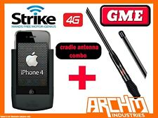 STRIKE APPLE IPHONE 4 & 4S CAR CRADLE DIY STRIKE CASE + GME 7DBI ANTENNA