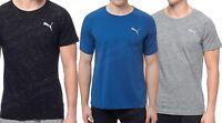 Men's Puma Evostripe Tee Crew Neck T-shirt Cotton Gray Black Blue NWT
