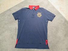 Ralph Lauren Polo Shirt Adult Small Mercer Team Big Pony Sport Blue Red Mens S