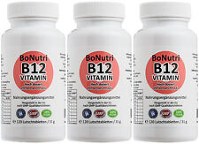 SUPERSPARPACK! 3x Vitamin B12 1.000 µg pro Tag 360 Lutschtabletten Jahresbedarf