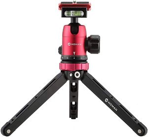Moman Tabletop Tripod with 360 Degree Camera Ball Head, with 1/4 and 3/8 Screws