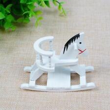 1:12 - Puppenhaus - Miniatur Schaukelpferd weiß,NEU^