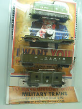 HO TRAIN US ARMY  TRAIN SET PORTER DDT LOCOMOTIVE  3-CAR  RR 1026-55 US ARMY SET