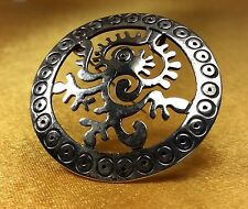 Vintage JS Taxco Mexico 925 Sterling Silver  Brooch Pin Pendant Fine Jewelry