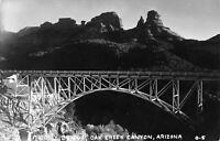 Sedona Arizona~Oak Creek Canyon~Midgley Bridge~1940s Real Photo Postcard~RPPC