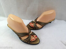 Aerosoles Strap Happy Kitten Heel Slides Sandals Womens Size 7 M