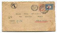DA NEW YORK A GENOVA, 1927, TASSATA IN ARRIVO, SEGNATASSE LIRE 2 + C50         m