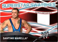 WWE Santino Marella Topps 2011 Superstar Swatches Event Used Shirt Relic Card