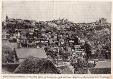 TANANARIVE VUE GENERALE OVERVIEW MADAGASCAR IMAGE 1902 PRINT