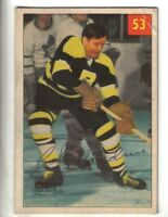 1954-55 Parkhurst Hockey Premium Card #53 Cal Gardner Boston Bruins VG/EX.