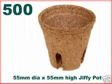 55mm Dia Jiffy Garden Plant Pots - Biodegradable x 500