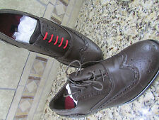 NEW STEVE MADDEN WINGTIP DRESS SHOES MENS 9 STYLE: HARLOW BROWN FREE SHIP