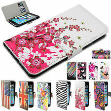 Leather Business Wallet Flip Case Cover Stand For Huawei Y530 Y300 Sony M2 LG G2