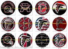 "12-1"" Atlanta Falcons Football Cake Toppers Scrapbook Bottle Caps AF1"
