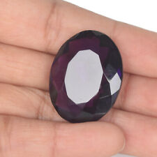 Amethyst Gemstone 75.00 Ct Faceted Oval Shape Healing Gem For Pendant BV-794