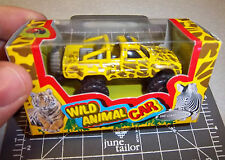 Wild Animal die cast metal & plastic toy car, Leopard stripe, new in box, fun!
