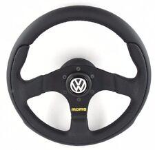 Genuine Momo Team 300mm leather steering wheel, hub kit and VW horn. Volkswagen
