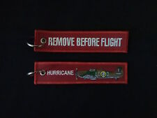 Cloth Keyring - Hurricane on front, Remove Before Flight on reverse