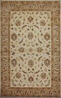 Traditional Hand Knotted Modern Chobi Area Rug Beige Color Wool Rugs (6.7x10.1)