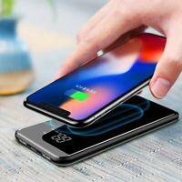 Qi Induktive Ladestation Ladegerät 8000mAh Powerbank für Xiaomi Mi 9