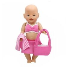 Puppenkleidung, Outfit, Sommer, pink, Tasche, 43 cm, zb. Baby Born/Sister, NEU