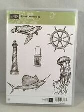 FROM LAND TO SEA Stampin Up New Lighthouse Turtle Ships Wheel Sword Fish