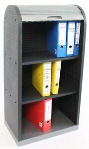 Universal Rollladenschrank, Büro Jalousie Schrank, Kunststoff 120x58x38cm