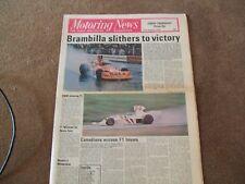 Motoring News 21 August 1975 Escort RS1800 Test Austrian GP Thruxton F5000